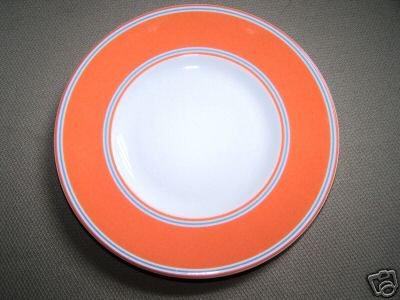LENOX Cays Stripe Orange Party Plate Kate Spade New