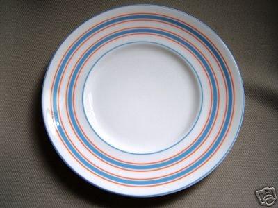 LENOX Cays Stripe Blue Dessert Plate Kate Spade New