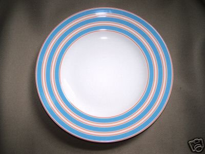 "LENOX Cays Stripe Blue 9"" Accent Plate Kate Spade New"