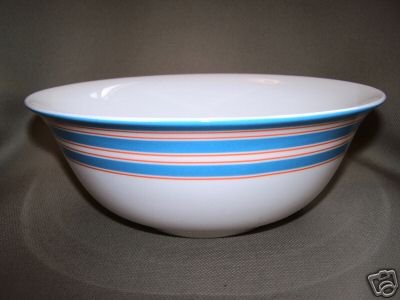 LENOX Cays Stripe Blue Serving Bowl Kate Spade New