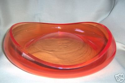 Murano Art Glass Stagno Apricot Bowl by SALVIATI New