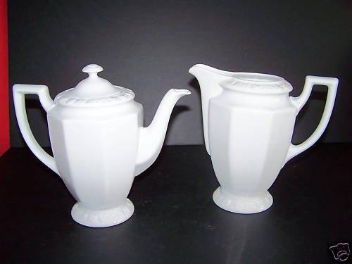 ROSENTHAL Maria White Lidded Coffee Pot Creamer Set New