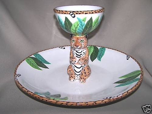 LYNN CHASE Atelier Jungle Jubilee Chip and Dip Set New
