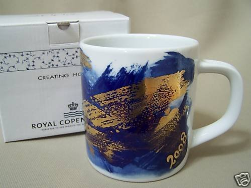 ROYAL COPENHAGEN Annual Collectible Large Mug 2008 New