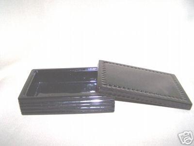 LABRAZEL Pearl & Stripe Black Crystal Covered Box New