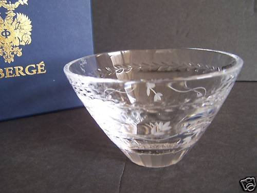 """FABERGE Atelier Crystal Luxembourg Small Bowl 5"""" NIB"""