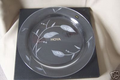 HOYA Crystal  Plate Platter With Leaves Pattern NIB