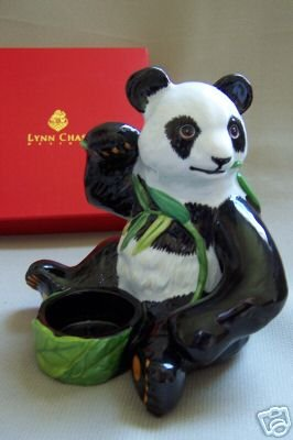 Lynn Chase Panda Tea Candle Holder NIB