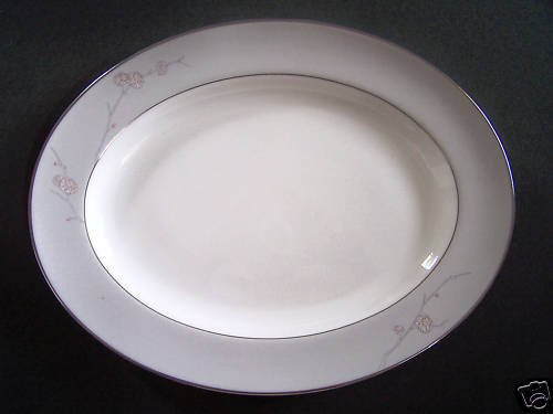 WATERFORD China Chrysanthemum Oval Serving Platter New