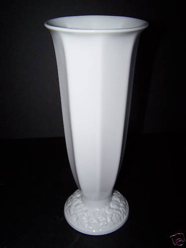 "ROSENTHAL Maria White Flared Tall Vase 12.75"" New"
