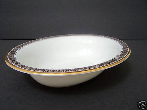 WEDGWOOD Shagreen Cocoa Oval Open Vegetable Bowl New