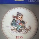 Hummel Goebel Ride Into Christmas Annual Plate 1975 MIB