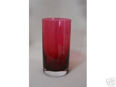 DAUM  Crystal  Tumbler  Ruby Red  New
