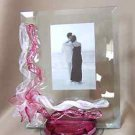 "Berni Art Glass Petal Drip Picture Frame 5"" x 7"" New"