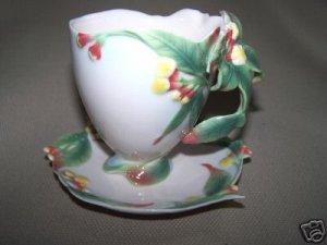 FRANZ Porcelain Clove Herb Cup Saucer Set New