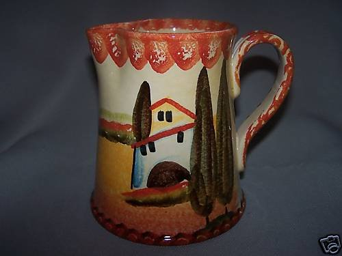 ITALICA ARS Small Pitcher Jug Hand Painted Pottery New