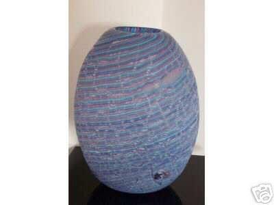 MURANO Art Glass Cenedese Amaizing  Vase Tall Signed New
