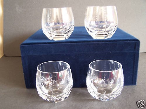 FABERGE Clear Crystal Bristol DOF Glasses Set/4 NIB