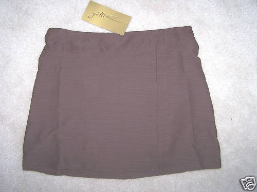 GOTTEX Women's Swim Skirt  Brown Textured Size M NWT