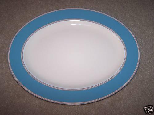LENOX Cays Stripe Blue Oval Serving Platter Kate Spade New
