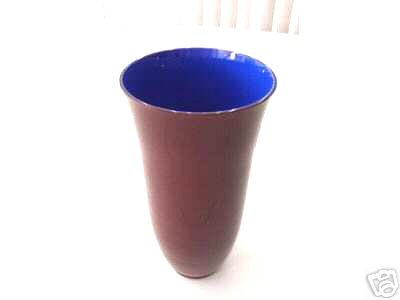 CARLO MORETTI Two Layered Vase Dark Red/Blue Signed New