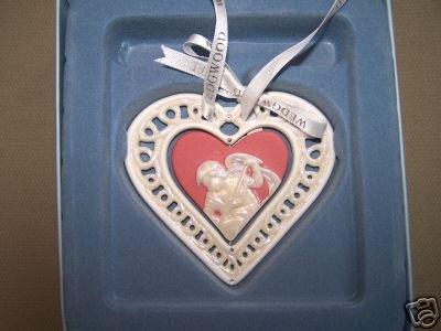 Wedgwood Our First Christmas Heart  Ornament 2007 NIB