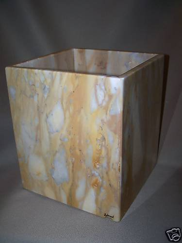 LABRAZEL Marble Waste Basket Hand Made Italy New