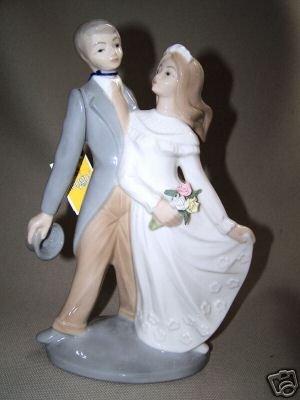 TENGRA Fine Porcelain Couple Newly Weds Figurine New