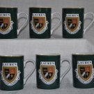 RALPH LAUREN Knockhill Green Mugs Set of 6 New