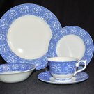 QUEENS China Albertine Blue 5 Piece Place Setting for 4 New