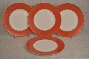 Royal Doulton Charms Coral Accent Plate Set/4 by Monique Lhuillier NIB