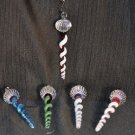 TWIN BROTHERS Art Glass Hand Blown Christmas Icicle Ornament New