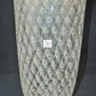 MURANO Art Glass Tall Clear Vase Gold Dust Controlled Bubble Gambaro & Poggi New