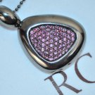ROBERTO COIN Sterling SIlver Ruthenium Plated Rhodolite Necklace Capri Plus New
