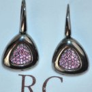 ROBERTO COIN Sterling SIlver Ruthenium Plated Rhodolite Earrings Capri Plus New
