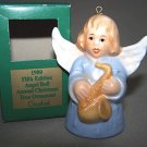 GOEBEL Annual Angel Bell 1980 Christmas Ornament Blue MIB