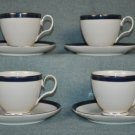 NORITAKE Stardust Platinum Cup & Saucer Set of 4 New