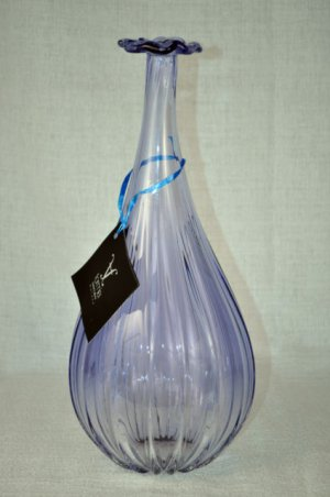 MURANO Art Glass Fiorellini  Lavender Vase FORMIA Italy New