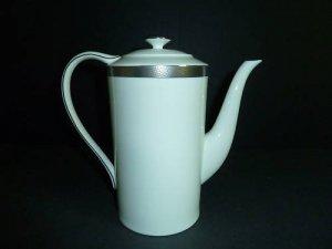 RALPH LAUREN Hewitt Platinum Coffee Pot New