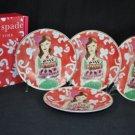 LENOX Illustrated Just Desserts Tidbit Plates Set/4 Kate Spade NIB