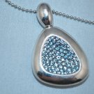 ROBERTO COIN Sterling SIlver Blue Topaz  Necklace Capri Plus New