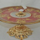 Murano Art Glass Decorative Footed Tray Red/Gold by Decotech New