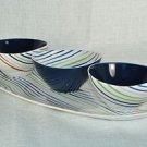 DIANE VON FURSTENBERG DVF Home Streamline Tray With Dip Bowls New