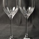 WEDGWOOD Vera Wang Crystal Duchesse Platinum Wine Glasses Set/2 New
