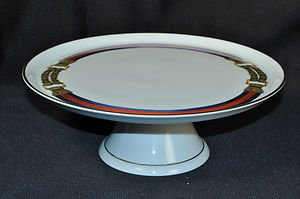 "RALPH LAUREN Westbrook Footed Cake Platter 11"" New"