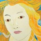 SEBINO ARTE Square Platter Fused Glass Botticelli Painting Venus Hand Made New