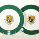 RALPH LAUREN Knockhill Green Luncheon Plates Set of 2 New