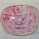 JULIA KNIGHT Argento Petite Bowl Votive Candleholder Raspberry Italy New