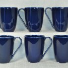 DIANE VON FURSTENBERG DVF Home Pebblestone Cobalt Blue Mugs Set/6 New