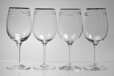 RALPH LAUREN Crystal Vows Goblets 14oz  Set/4 New